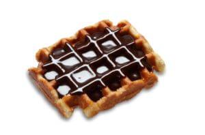 Los mejores toppings para gofres - Gofre con chocolateel